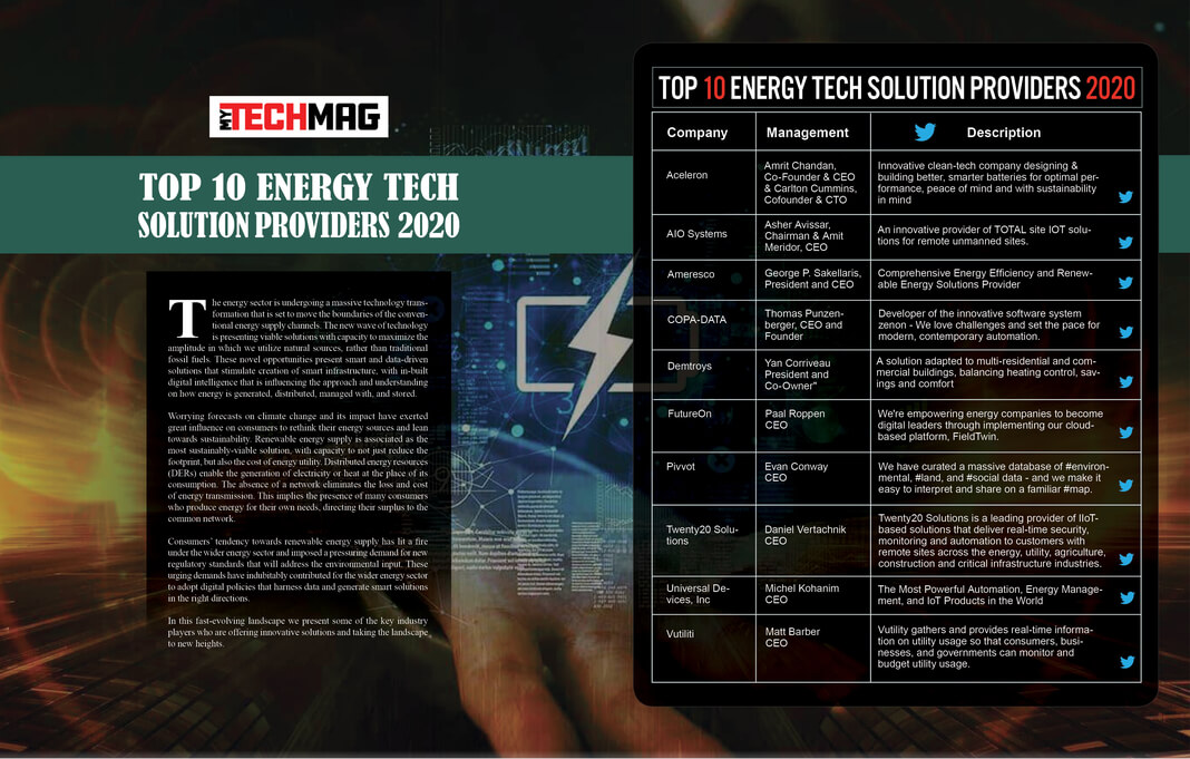 Top 10 Energy Tech Solution Providers 2020
